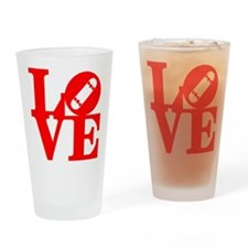 love_1_rojo Drinking Glass