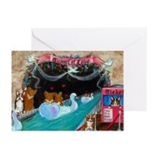Corgi Tunnel Of Love Greeting Cards (Pk of 10)