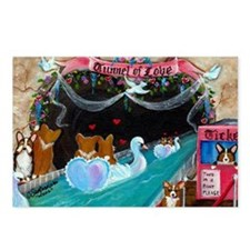 Corgi Tunnel Of Love Postcards (Package of 8)