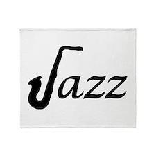 Jazz Saxophone Throw Blanket