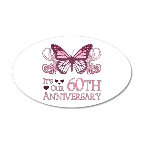 60th Wedding Aniversary (Butterfly) 20x12 Oval Wal