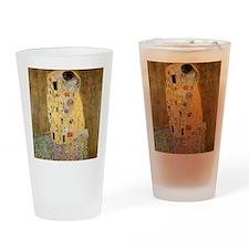The Kiss by Gustav Klimt Drinking Glass