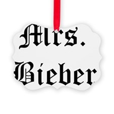 mrs bieber Ornament