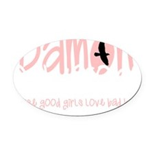 damon salvatore Oval Car Magnet