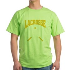 Lacrosse yellow dark tees T-Shirt