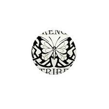 TribeButterfly1Black Mini Button