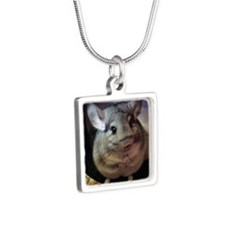 CJ on wheel - 3x3 - 200 Silver Square Necklace