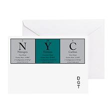 NYC Color  Black +Logo Greeting Card