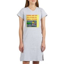 table tennis Women's Nightshirt
