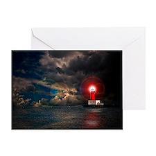 new lighthouse framed Greeting Card