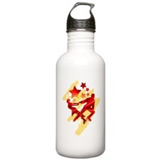 Pair Skaters Red Water Bottle