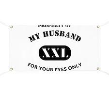 Property Of My Husband Humor Banner