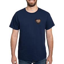 Rusty Iron Heart Anti Valentine T-Shirt