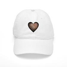 Rusty Iron Heart Anti Valentine Baseball Cap