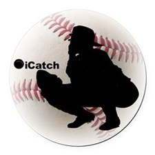 iCatch Baseball Round Car Magnet