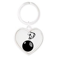 8 ball man ornament Heart Keychain