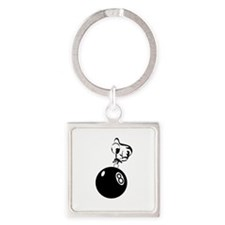8 ball man ornament Square Keychain