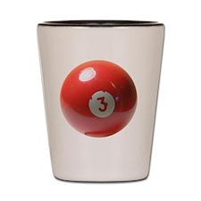 3 ball ornament Shot Glass