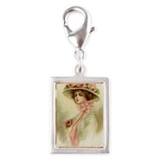 greeting card Silver Portrait Charm