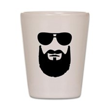 Full beard sunglasses Shot Glass