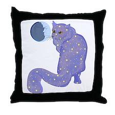 Night Cat Throw Pillow