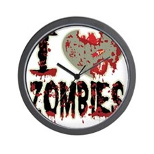 I-Heart-Zombies Wall Clock