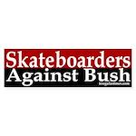 Skateboarders Against Bush (Sticker)