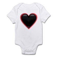 Black Glossy Heart Anti Valentine Infant Bodysuit