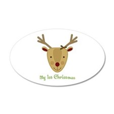 1st Christmas Reindeer Wall Decal
