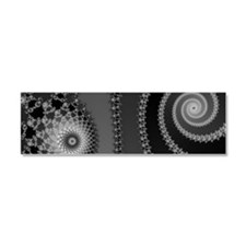 Silver Star and Spiral Car Magnet 10 x 3