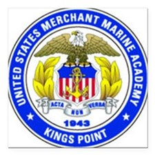"200px-USMMA_SEAL2002edit Square Car Magnet 3"" x 3"""