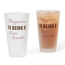 Happiness_GreatGrandma Drinking Glass