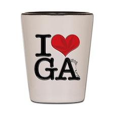 I Love GAnja Shot Glass