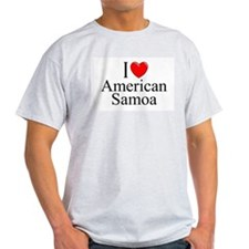 """I Love American Samoa"" Ash Grey T-Shirt"