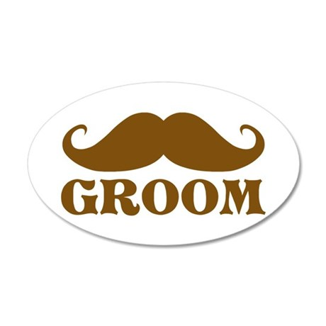 Groom Mustache Wall Decal
