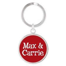 Max_Carrie_Button Round Keychain