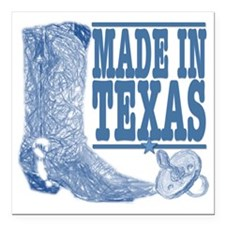 "Made in Texas (Baby) Square Car Magnet 3"" x 3"""
