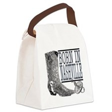 Born in Nashville (Black) Canvas Lunch Bag