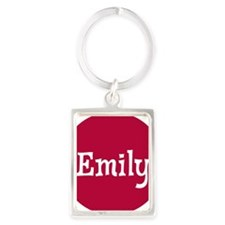 Emily_Button Portrait Keychain
