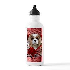Valentine_Red_Rose_Cav Water Bottle