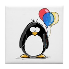 Primary Balloons Penguin Tile Coaster