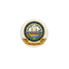 New Hampshire Seal Mini Button