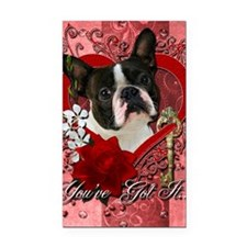 Valentine_Red_Rose_Boston_Ter Rectangle Car Magnet