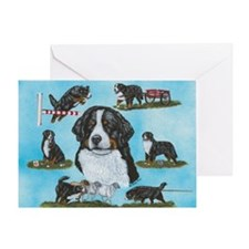 Berner Versatility Greeting Card