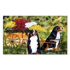 berner flower cart s Decal