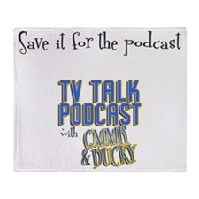 saveitforthepodcast with logo Throw Blanket