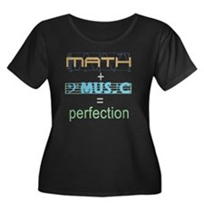 mathandm Women's Plus Size Dark Scoop Neck T-Shirt
