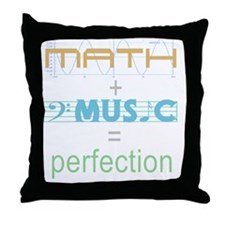 mathandmusic Throw Pillow