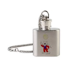 Disco Cat in Color Flask Necklace