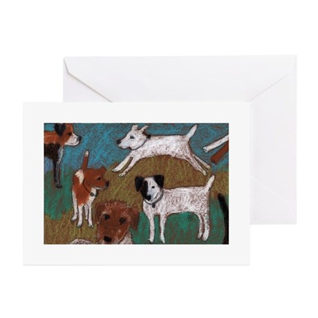 jack Russels Greeting Cards (Pk of 10)